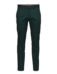 Slim-fit cotton chinos - MEDIUM GREEN