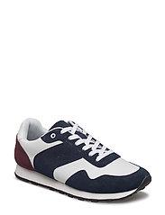 Contrast panel sneakers - NAVY
