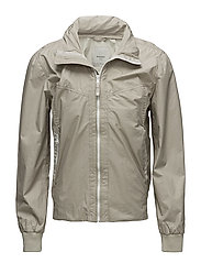 Hidden hood windbreaker jacket - LIGHT BEIGE