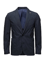 Unstructured regular-fit cotton blazer - NAVY