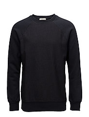 Striped cotton-blend sweatshirt - NAVY