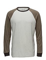 Raglan sleeve t-shirt - BEIGE - KHAKI