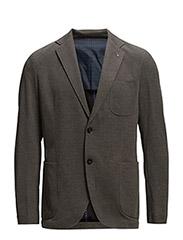 Textured unstructured blazer - GREY