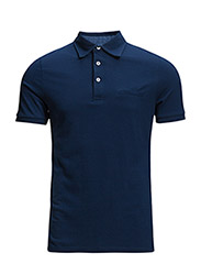 Welt pocket piqu polo shirt - NAVY