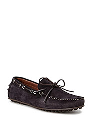 Suede driving shoes - NAVY