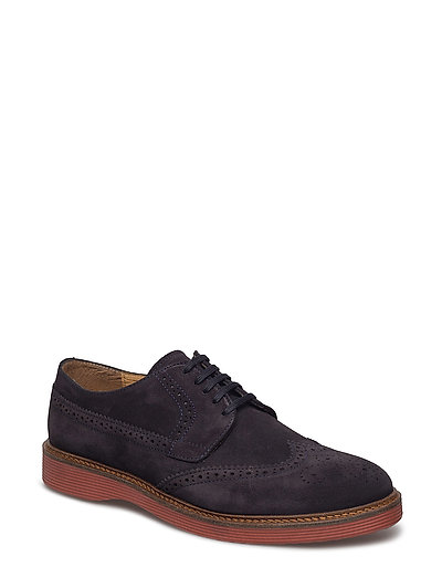 Contrast Sole Leather Blucher