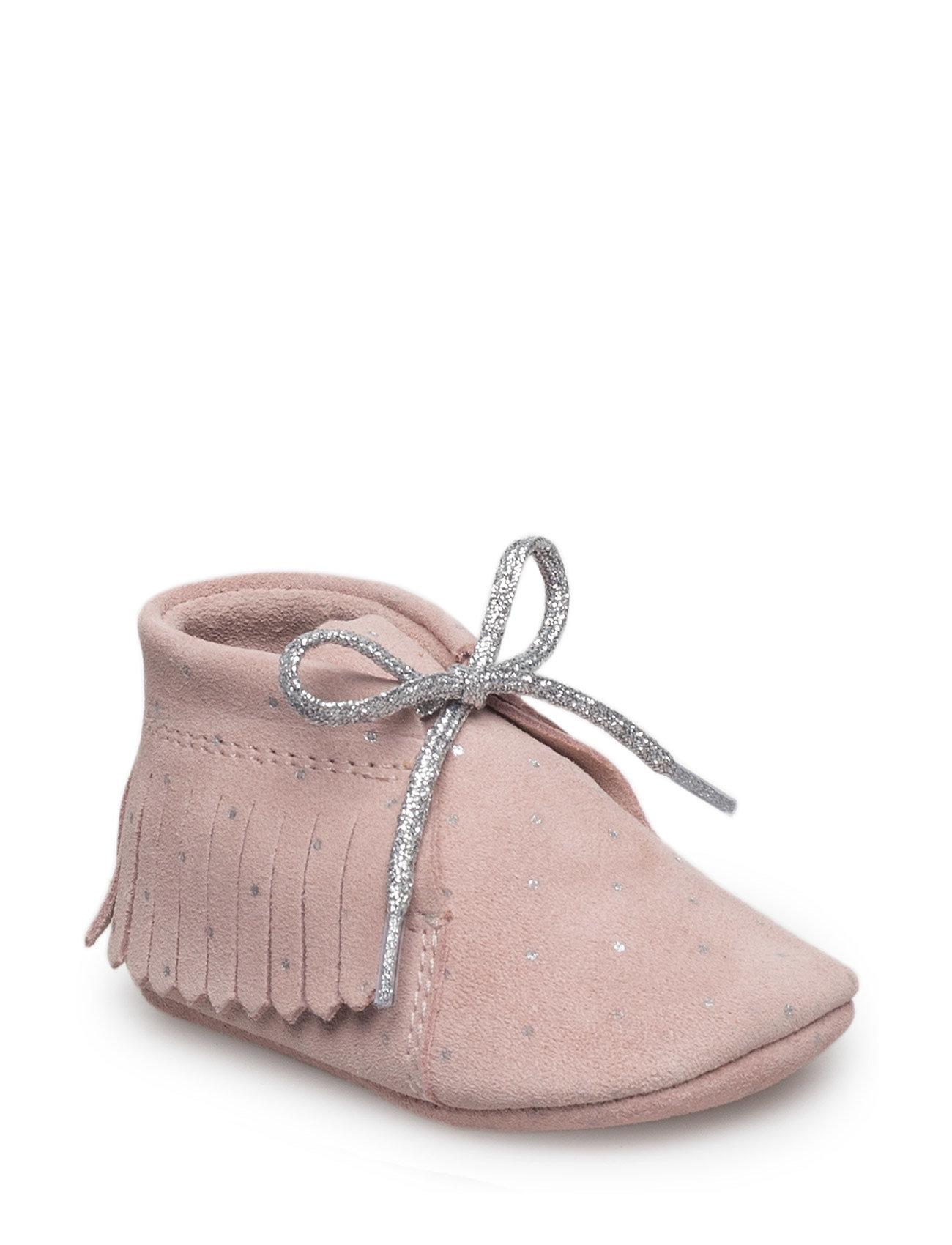 Fringed Leather Shoes Mango Kids Sko & Sneakers til Børn i Pink