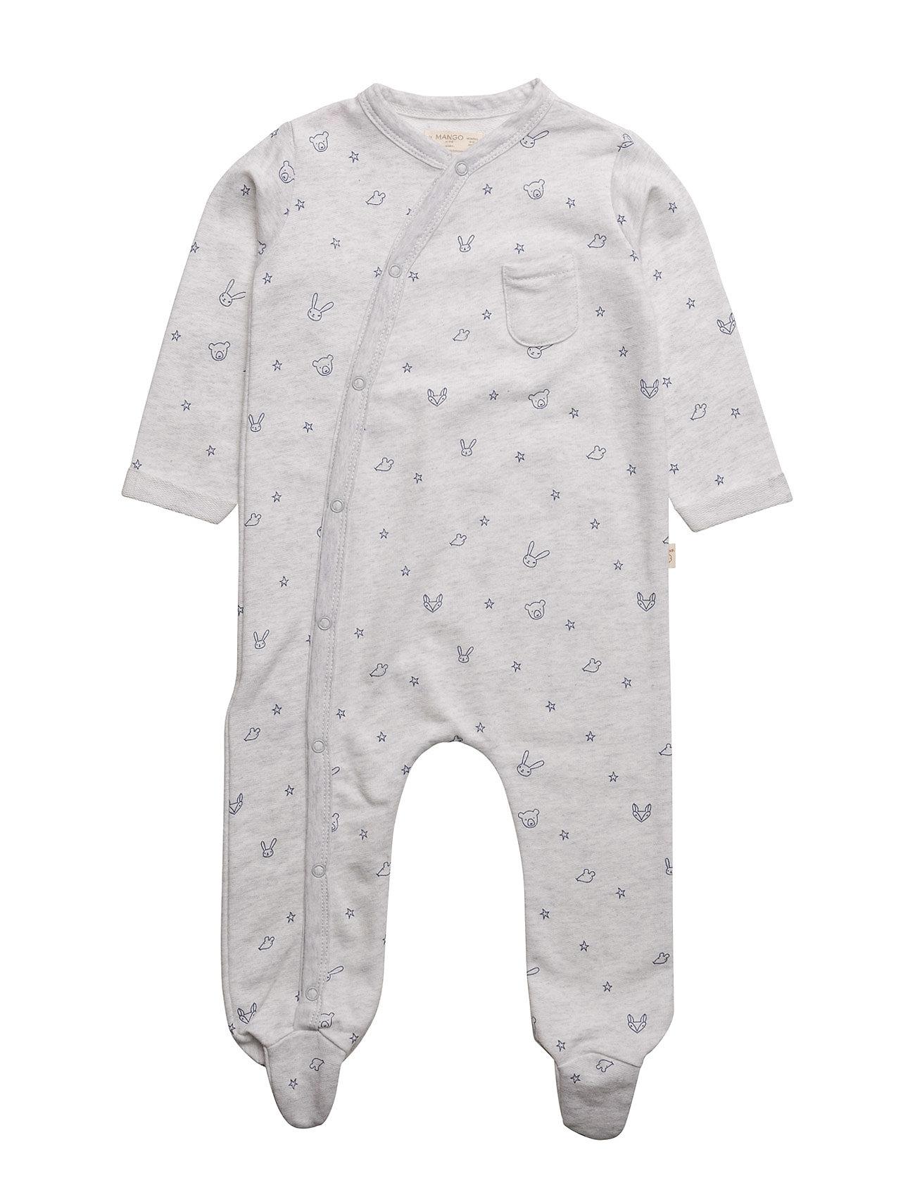 Organic Cotton Pyjamas Mango Kids Pyjamas til Børn i Lt Pastel Grey