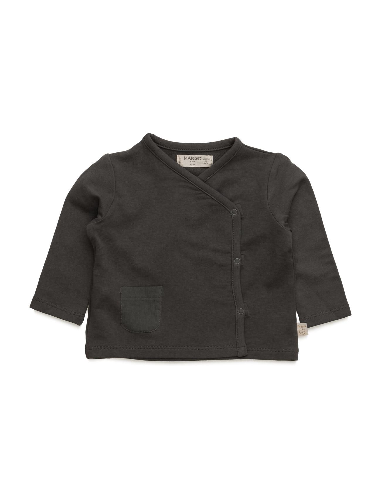 Organic Cotton Sweatshirt Mango Kids  til Børn i Grå