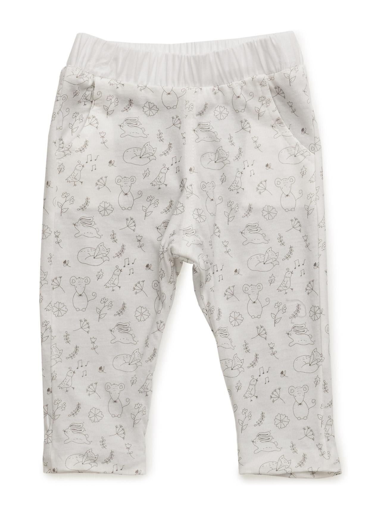 Printed Cotton Trousers Mango Kids  til Børn i hvid