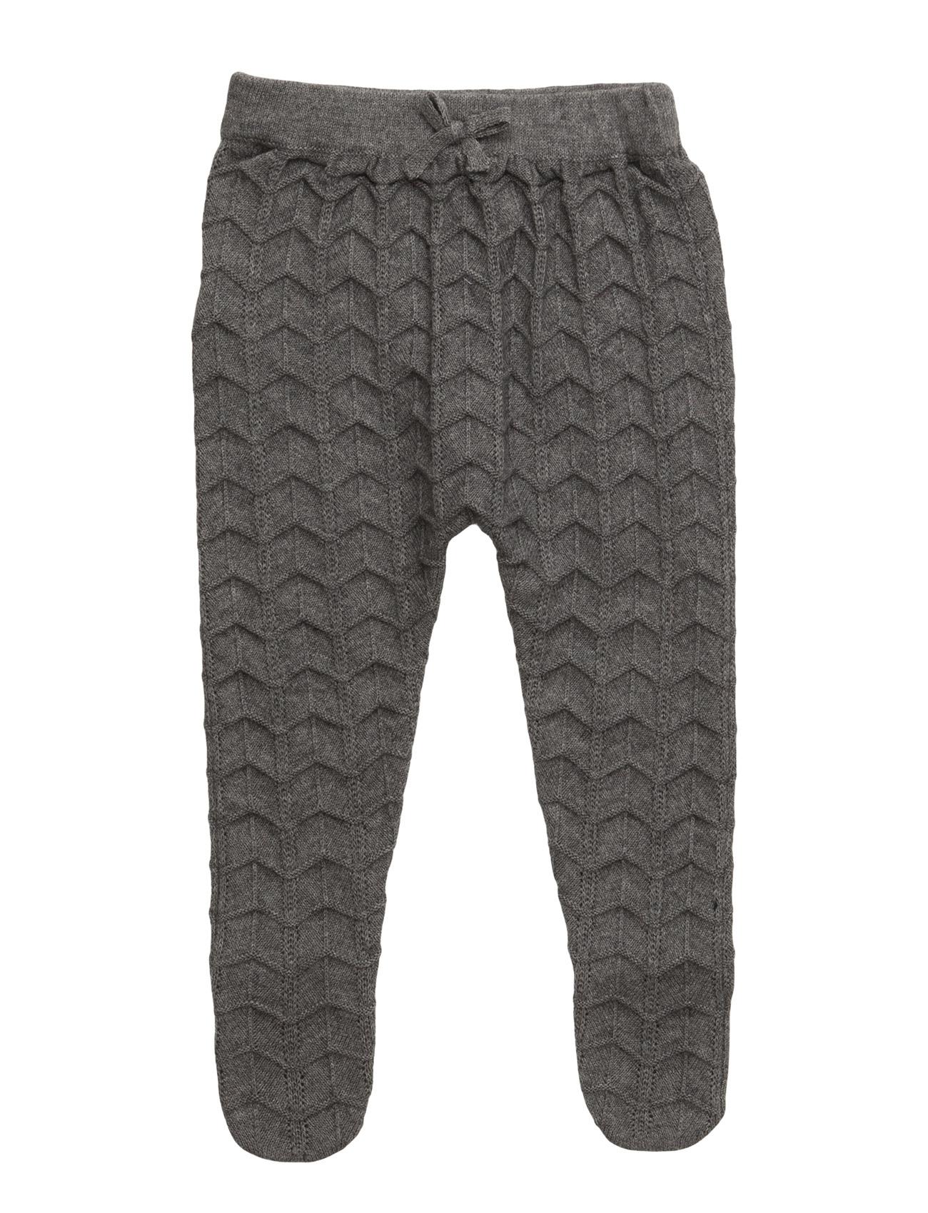 Cotton Wool-Blend Trousers Mango Kids  til Børn i Mørkegrå