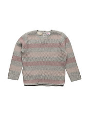 Stripe textured sweater - PINK