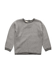 Knit striped sweater - DARK GREY