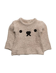 Textured bear sweater - LT PASTEL BROWN