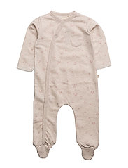 Organic cotton pyjamas - LT PASTEL BROWN