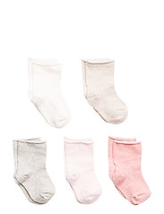 Organic cotton socks pack - LT-PASTEL PINK