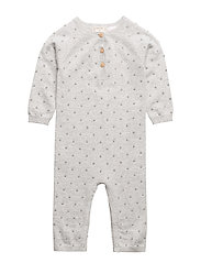 Embossed dots one-piece suit - MEDIUM GREY