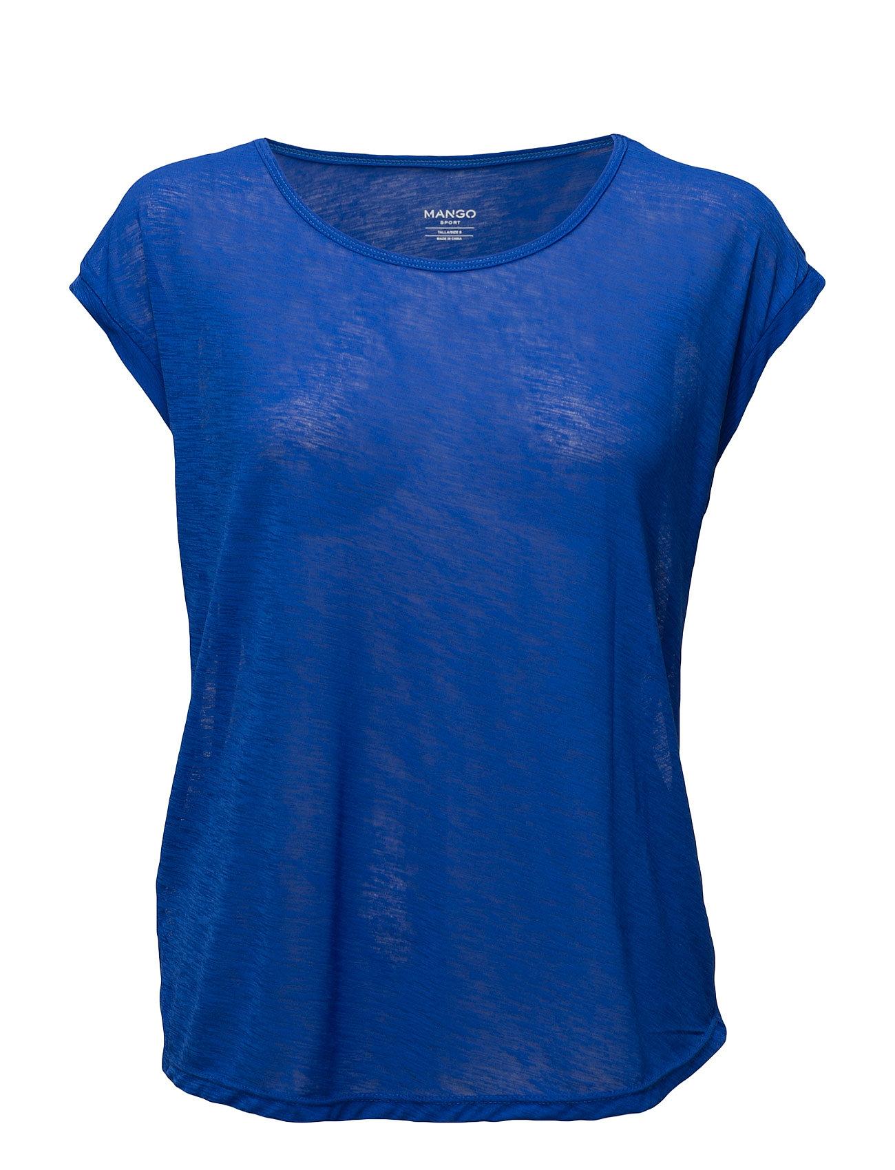 Flecked Lightweight T-Shirt Mango Sports Bluser til Kvinder i