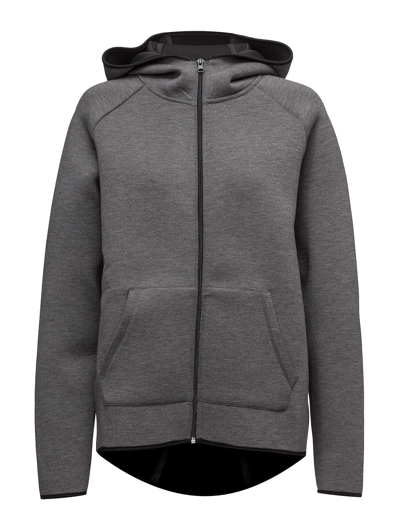 Hooded Training Jacket Mango Sports Sweatshirts til Damer i Mørkegrå