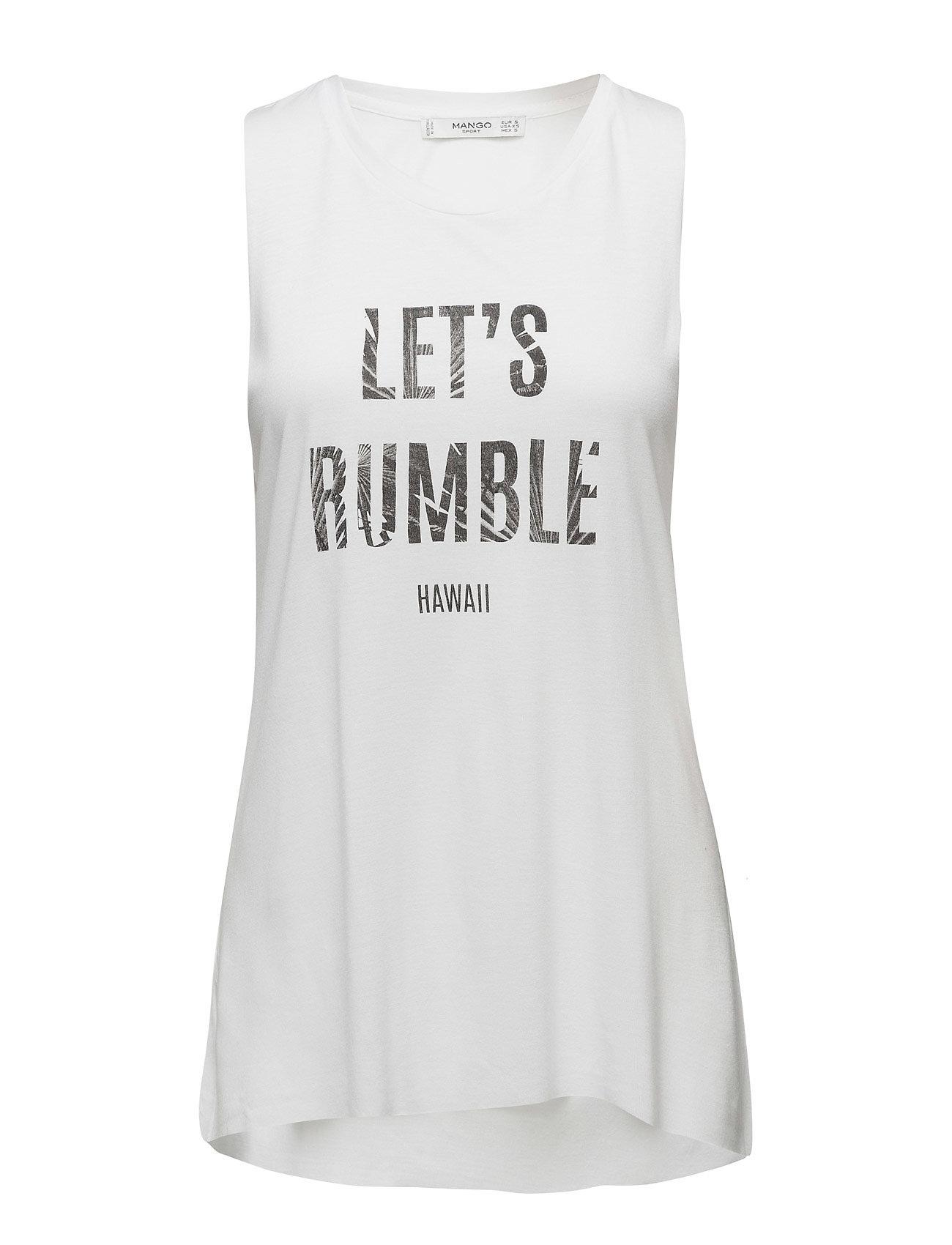 Relaxed T-Shirt Mango Sports T-shirts & toppe til Kvinder i hvid