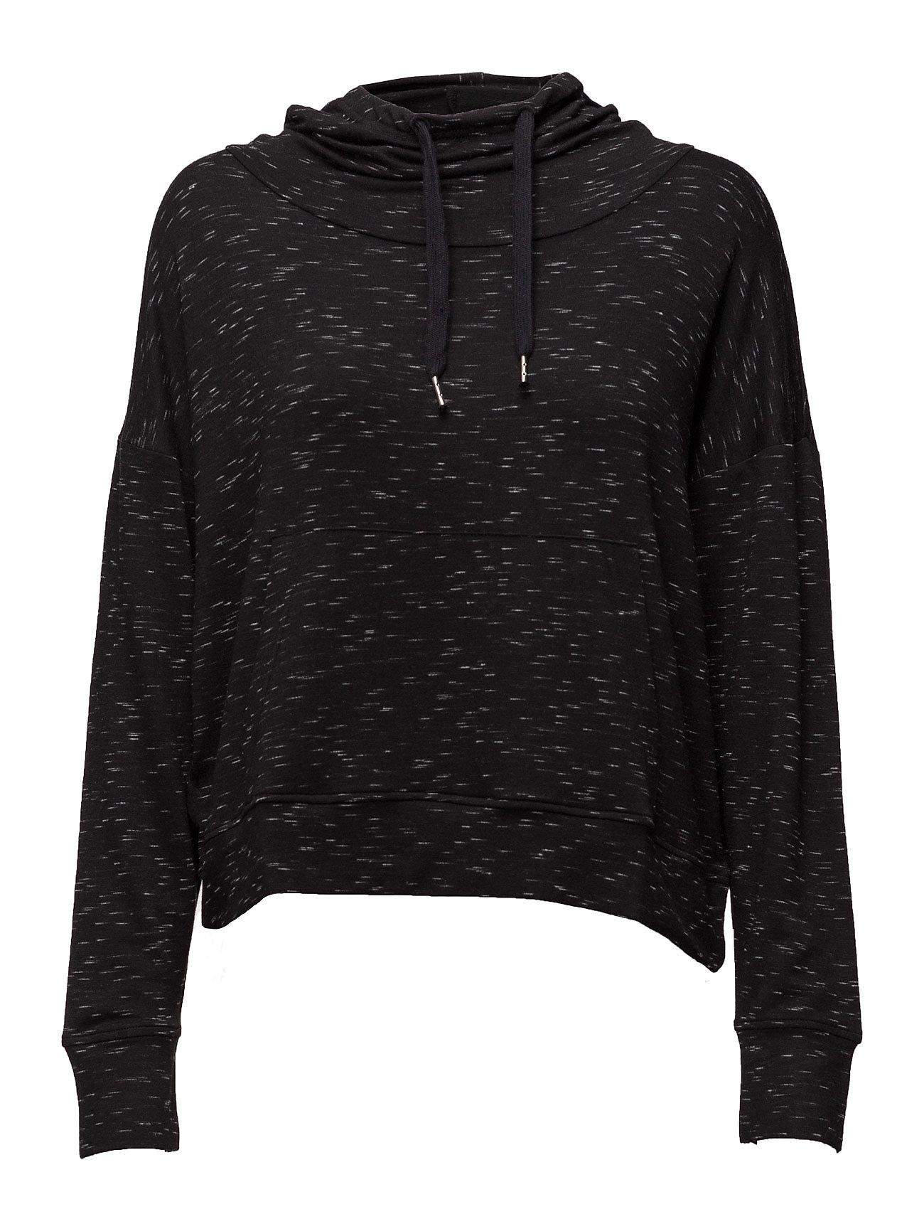Flecked Hoodie Mango Sports Sweatshirts til Damer i Sort