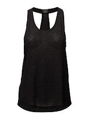 Comfort racerback t-shirt - BLACK