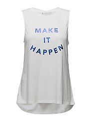 Message cotton t-shirt - WHITE