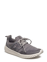 Contrast materials sneakers - GREY