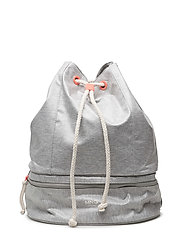 Appliqus cord backpack - GREY