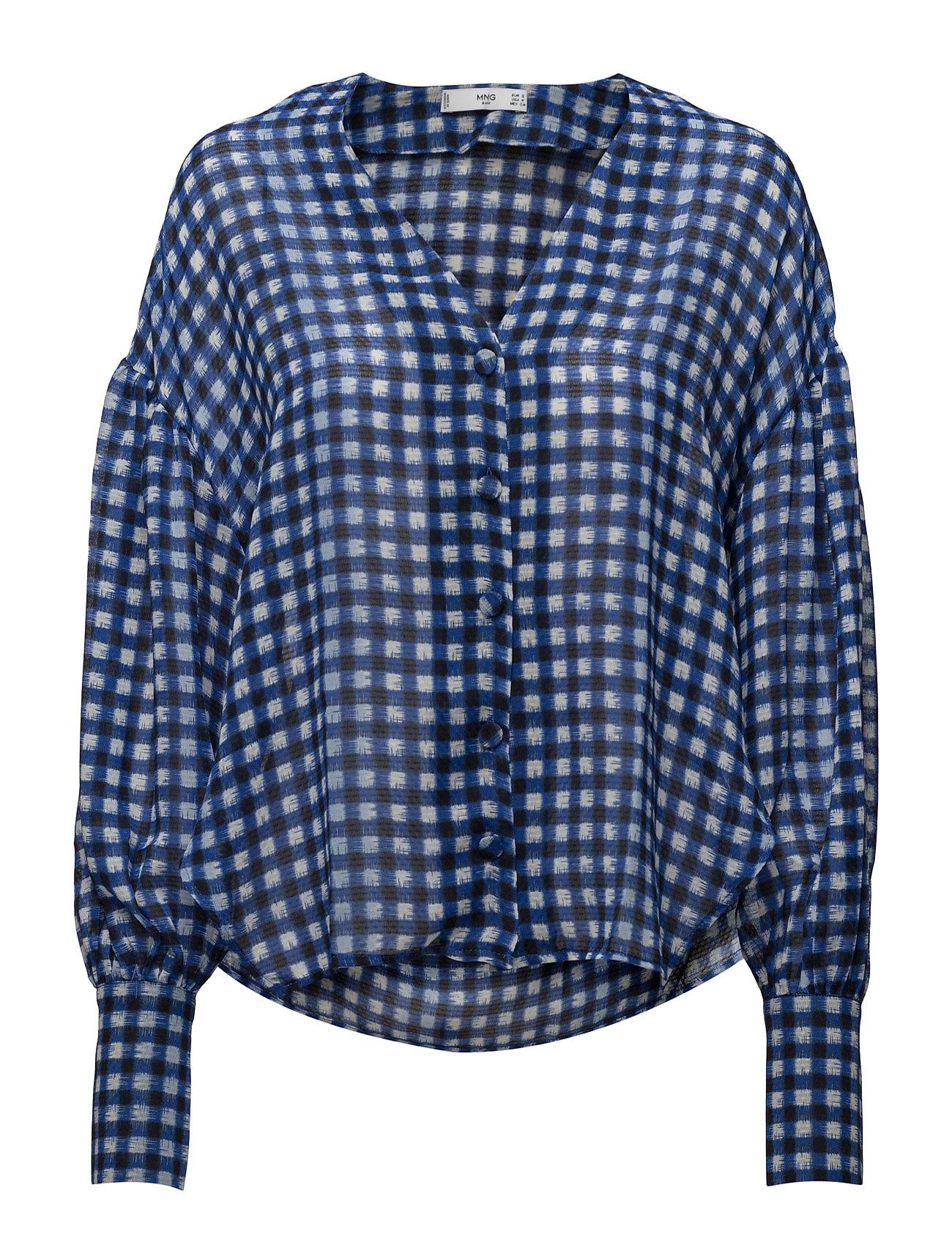 mango – Lightweight check blouse fra boozt.com dk