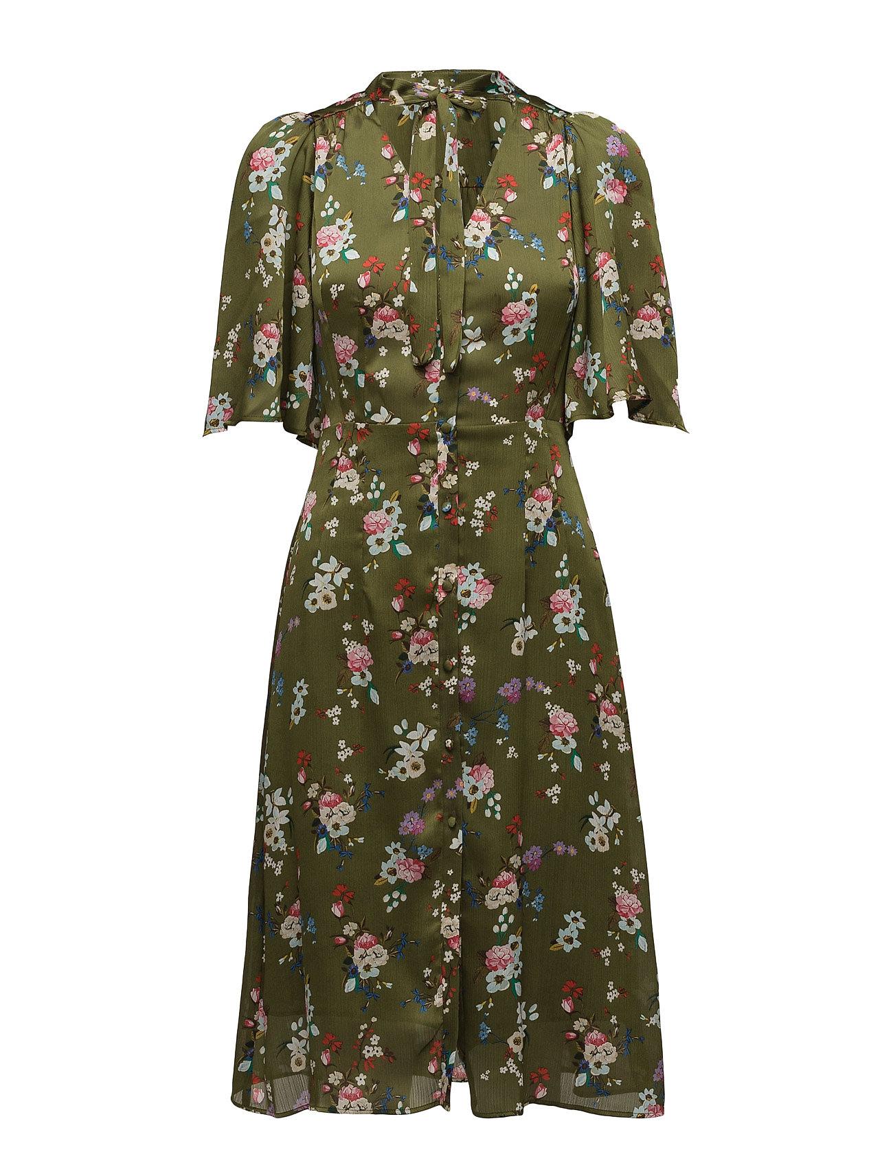 Bow Floral Dress Mango Knælange & mellemlange til Damer i Beige - Khaki