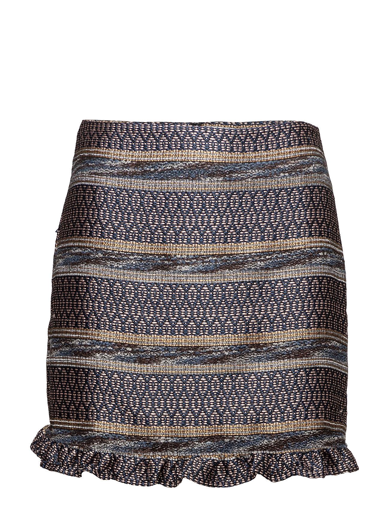 Geometric Embroidery Skirt Mango Korte til Damer i Navy blå