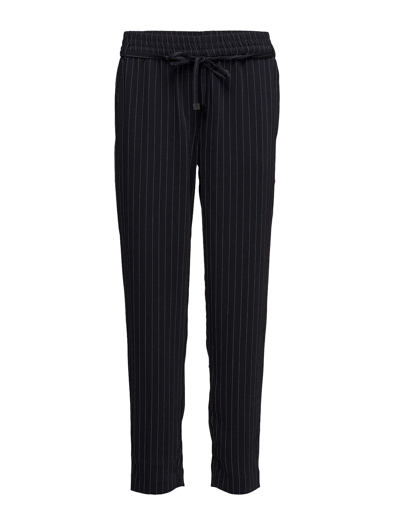 Chalk-Stripe Trousers Mango Bukser til Damer i Navy blå