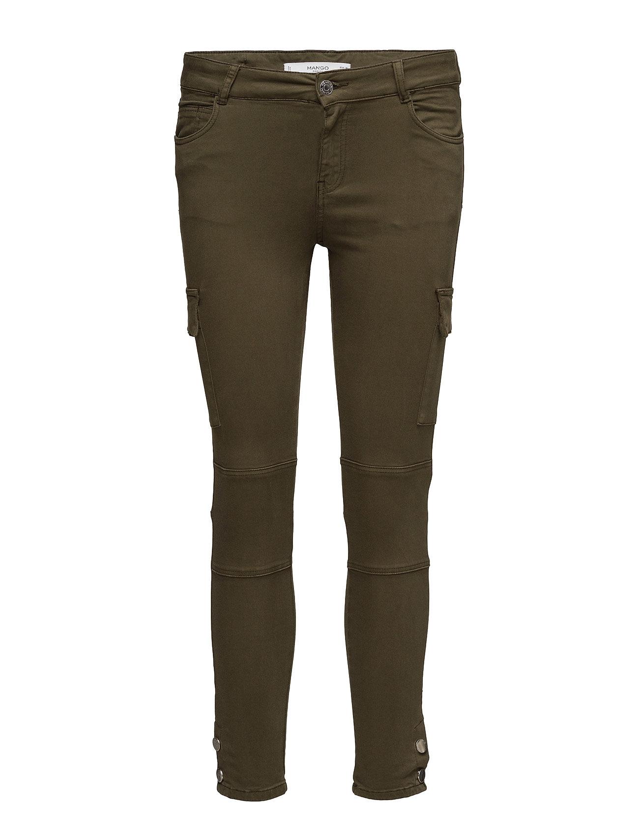 Cotton Cargo Trousers Mango Skinny til Damer i Beige - Khaki