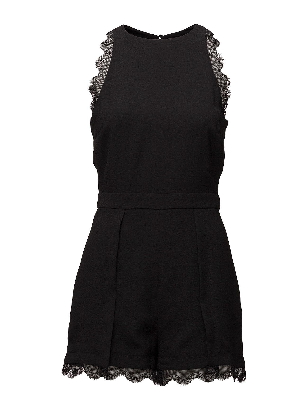 Blond-Lace Appliqu Jumpsuit Mango  til Damer i Sort
