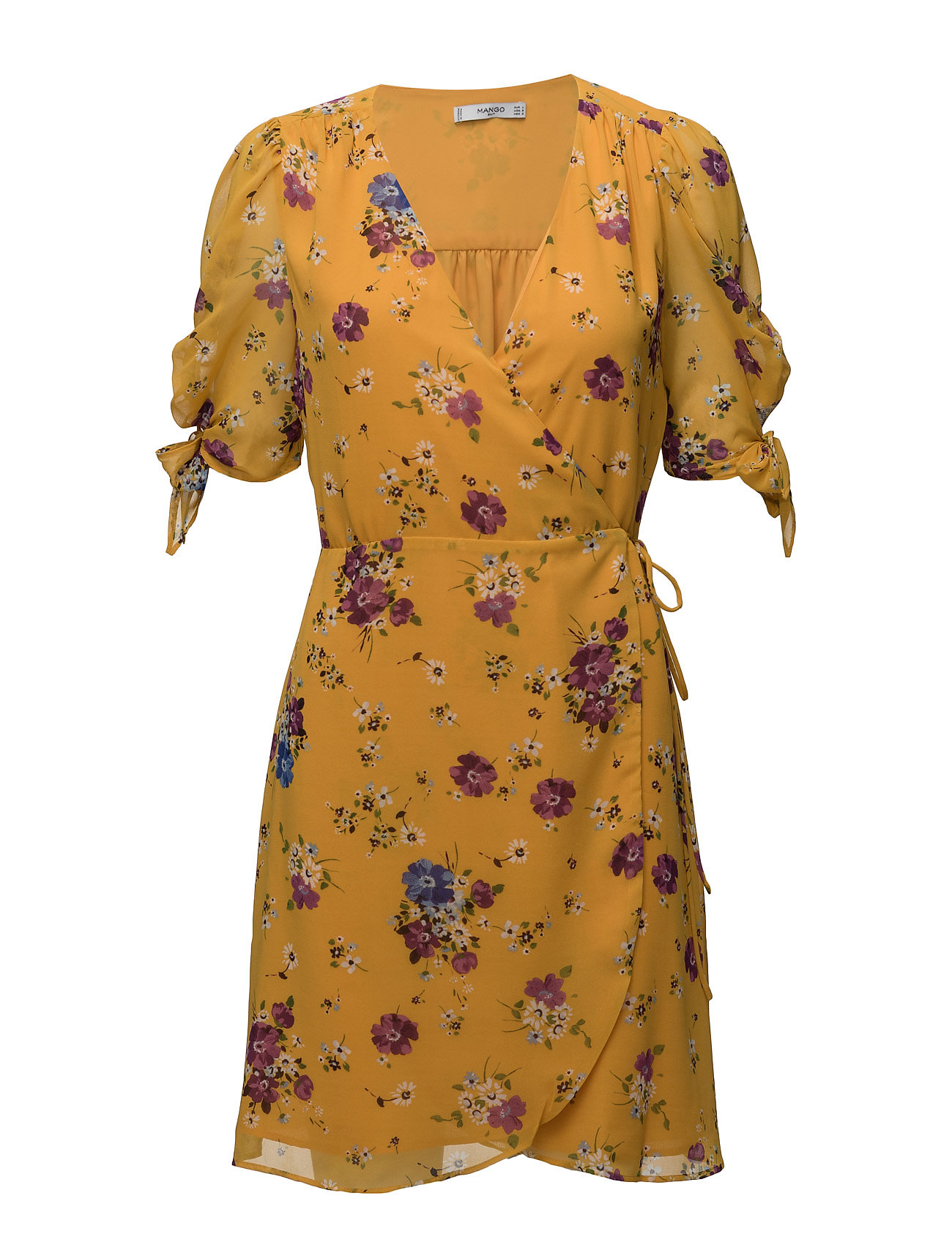 Floral Print Dress Mango Korte kjoler til Damer i medium Yellow
