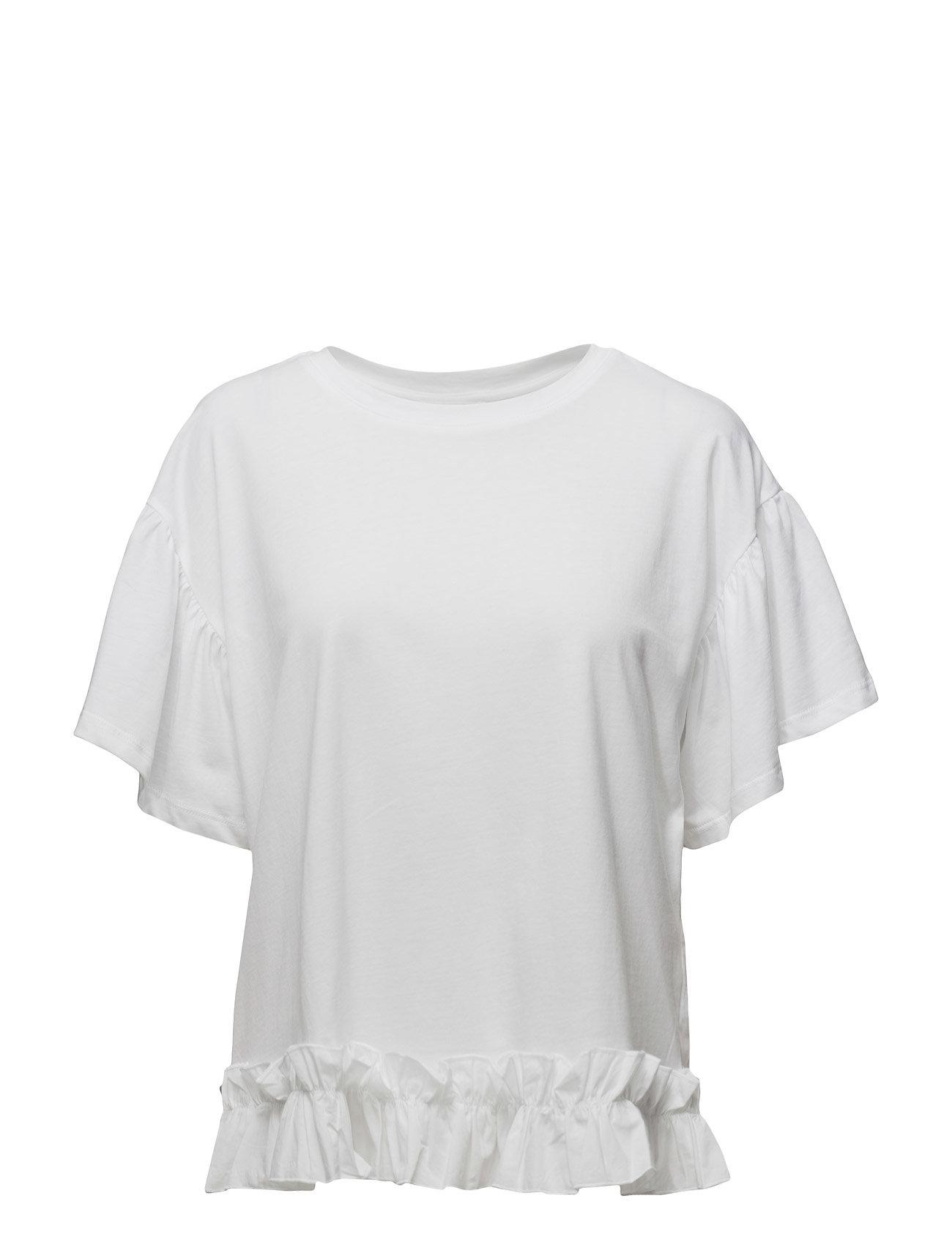 Mango Ruffles ruched t-shirt