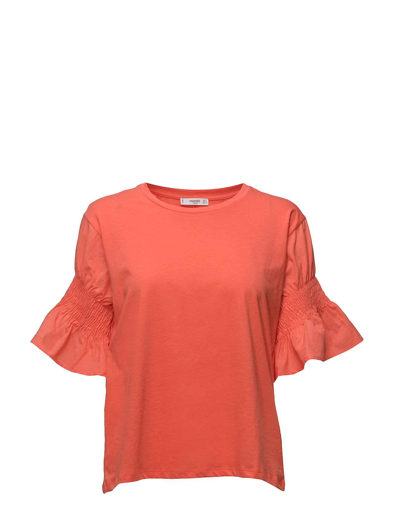 Xxl Sleeve T-Shirt Mango Kortærmede til Damer i Bright Red