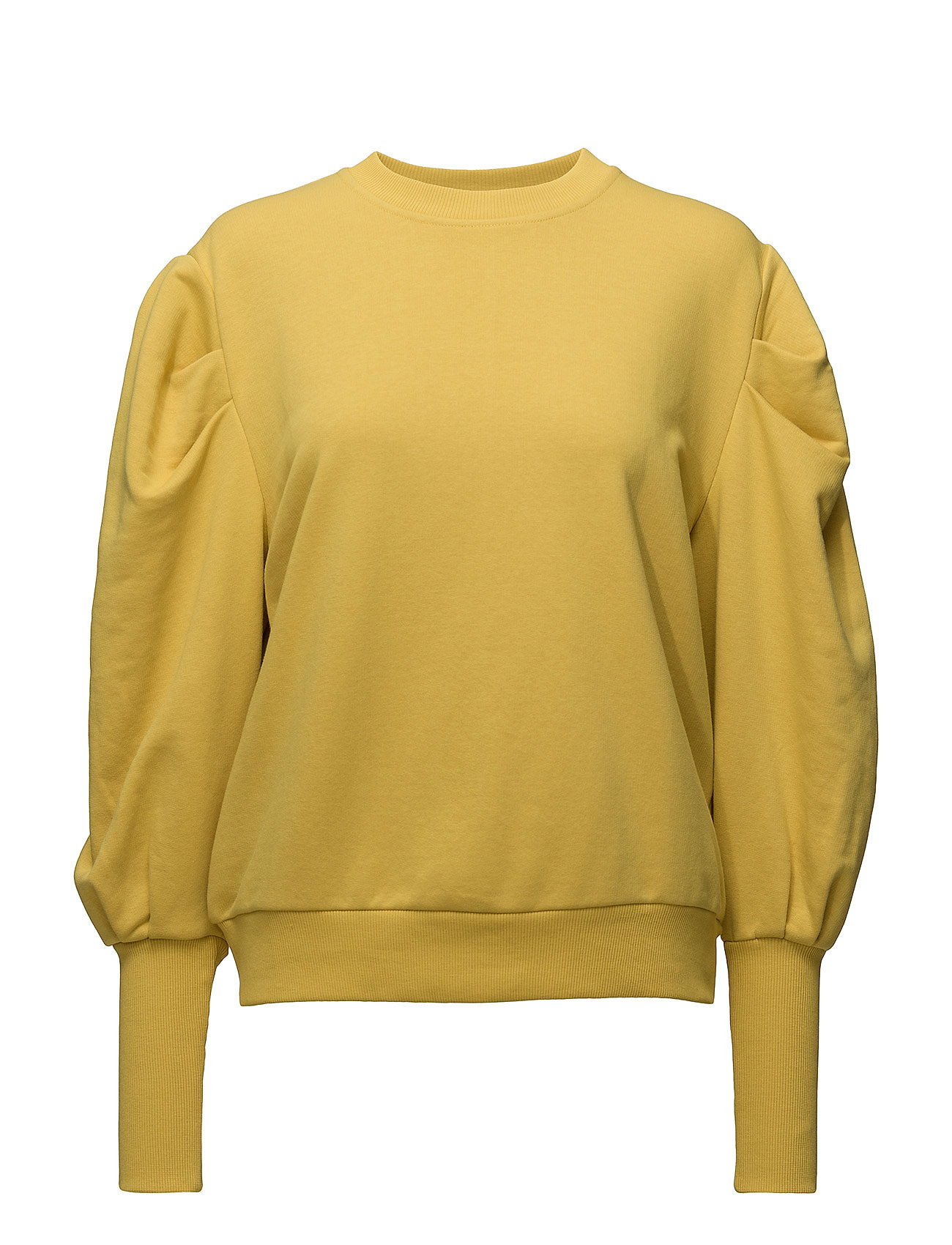 Puffed-Shoulder Sweatshirt Mango  til Damer i Gul