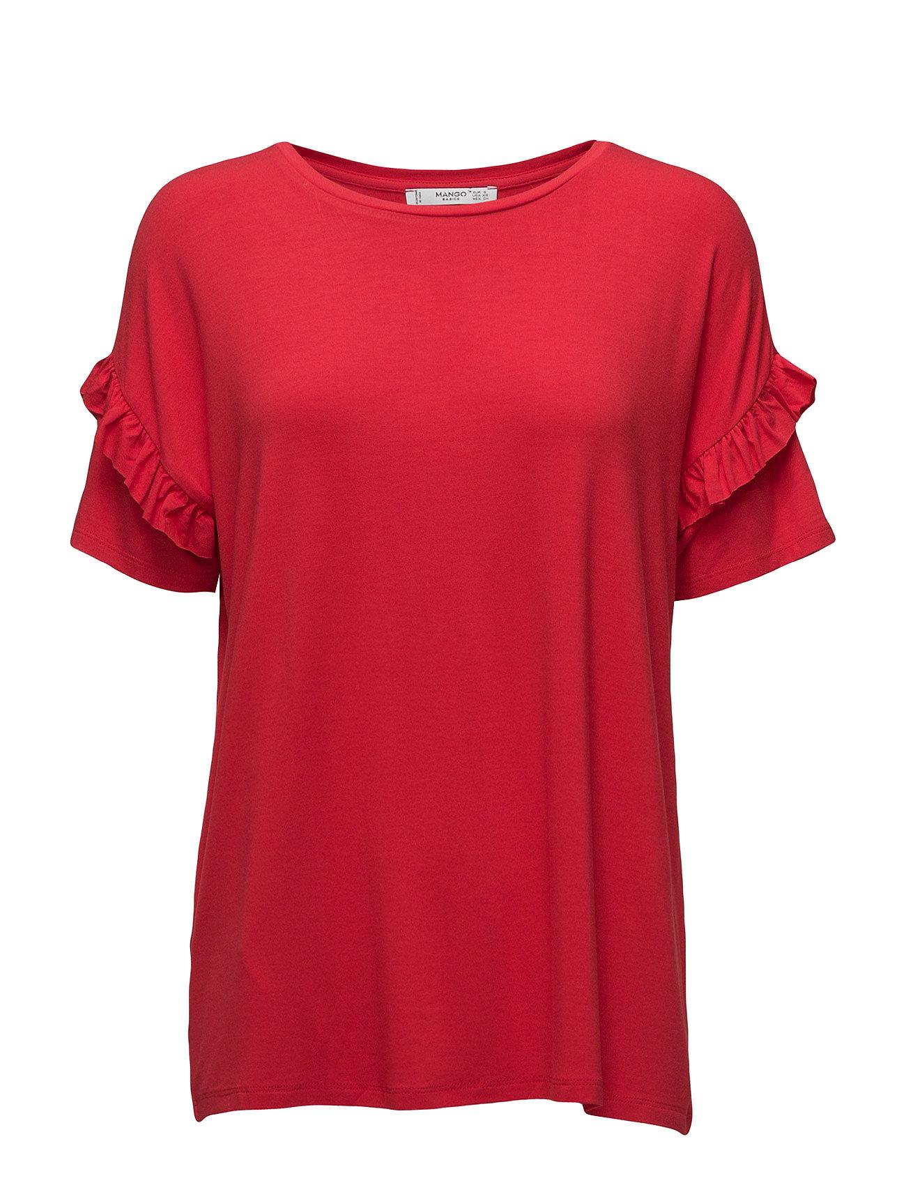 Flowy T-Shirt Mango Kortærmede til Damer i