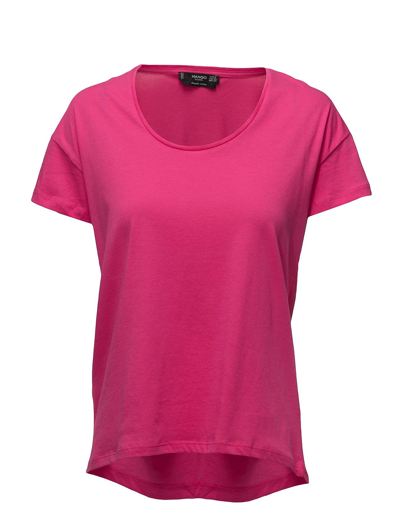 Organic Cotton T-Shirt Mango Kortærmede til Damer i Bright Pink