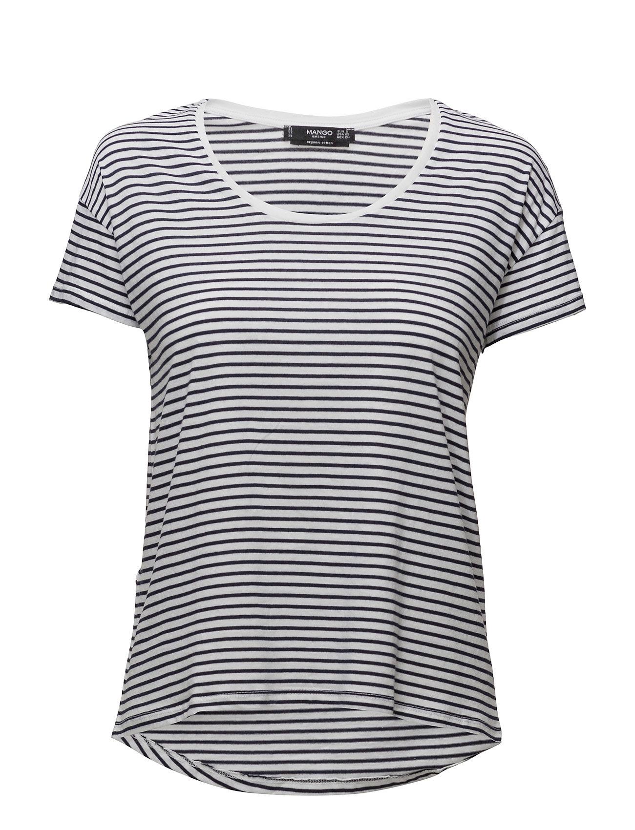 Organic Cotton T-Shirt Mango Kortærmede til Damer i Natural White