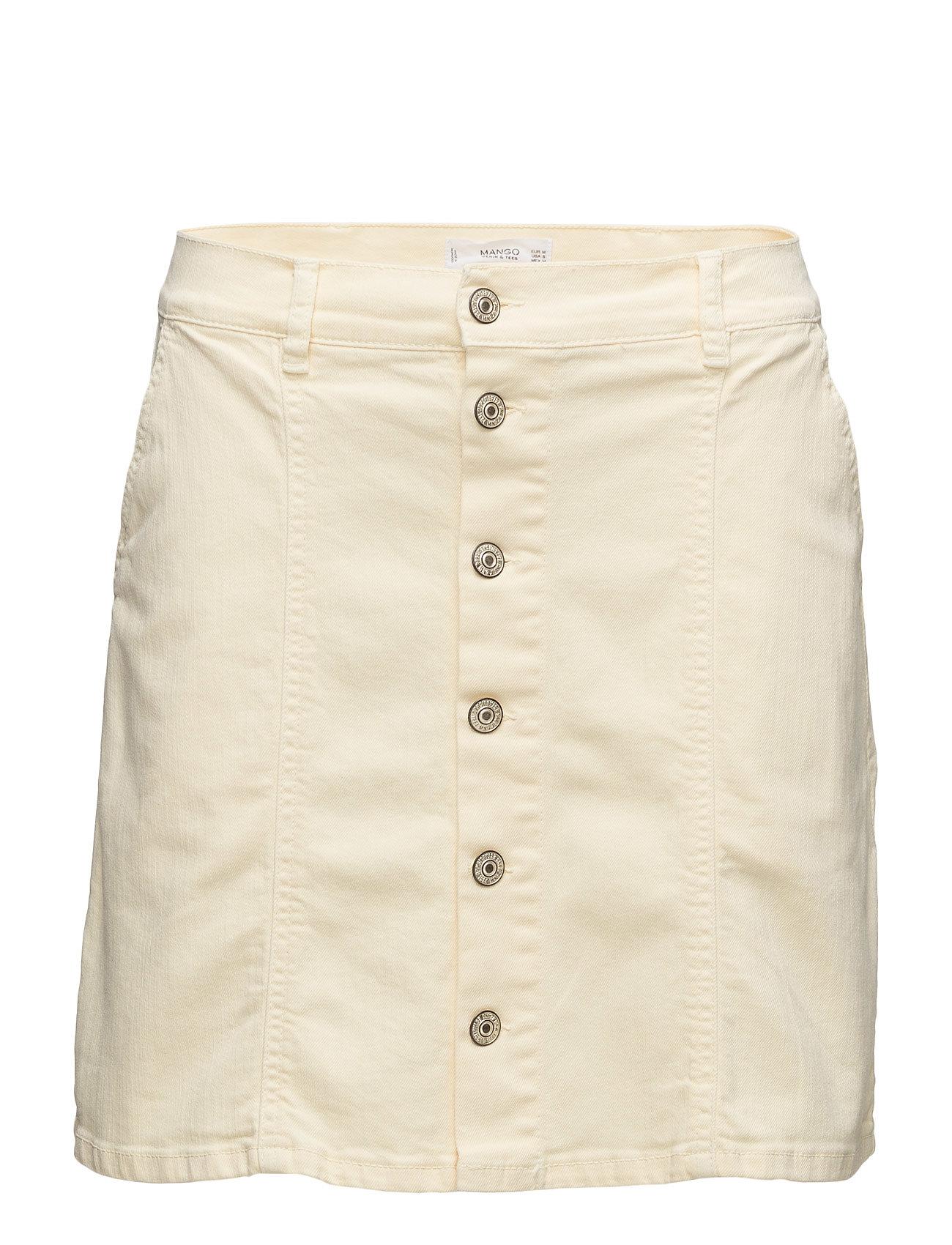 Buttoned Denim Skirt Mango Korte til Damer i Gul