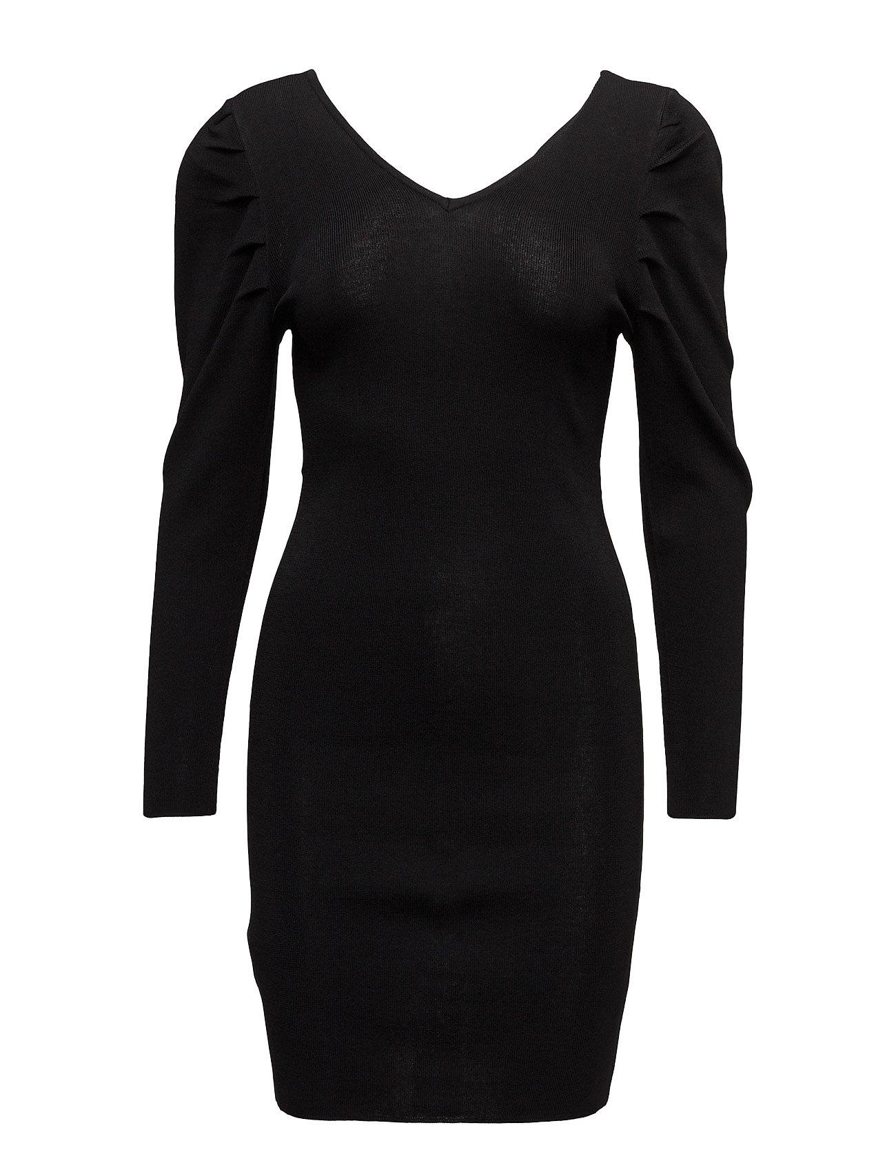 Textured Shift Dress Mango Korte kjoler til Damer i Sort