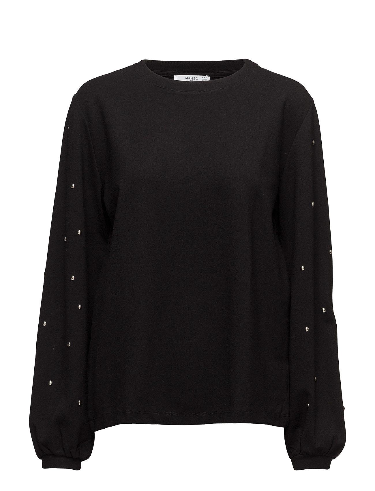 Studded Sweatshirt Mango  til Damer i Sort