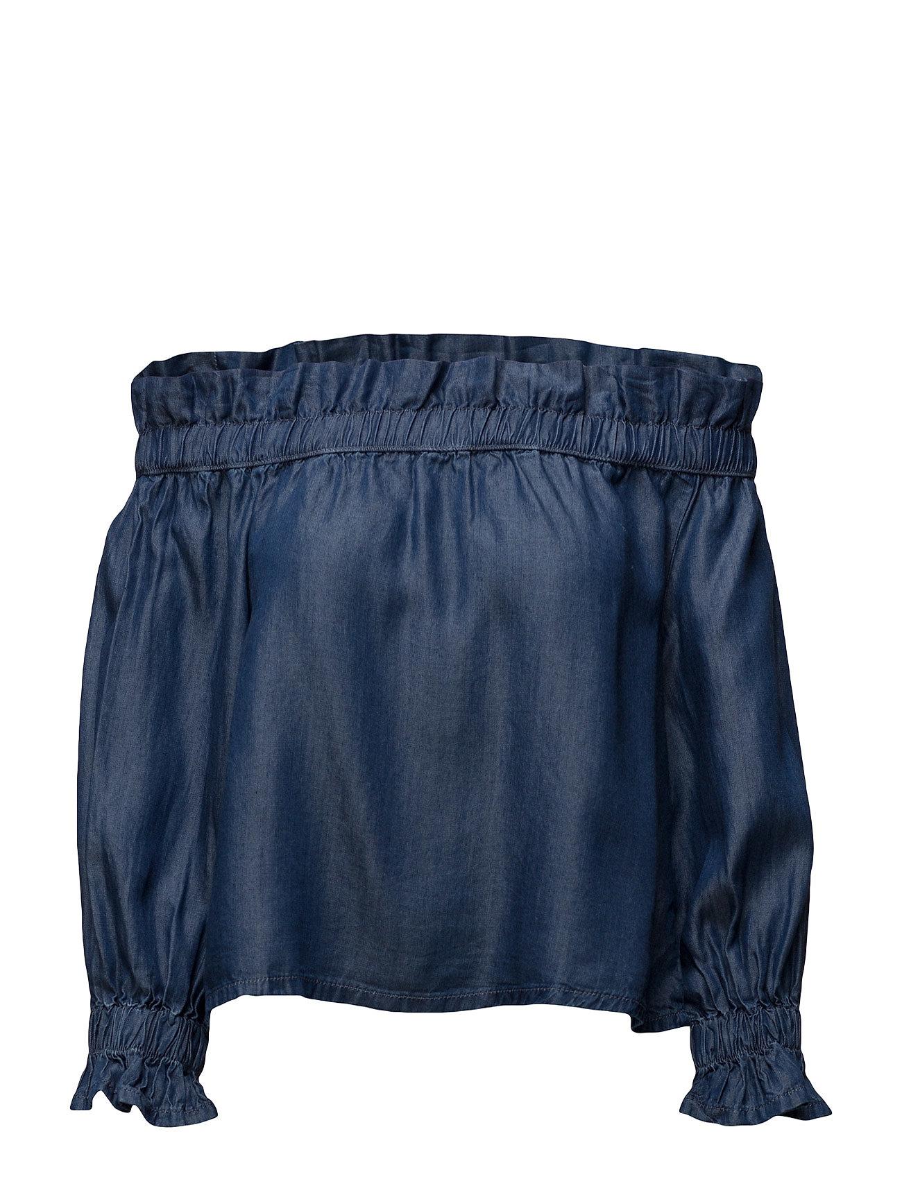 mango Off shoulder denim blouse på boozt.com dk