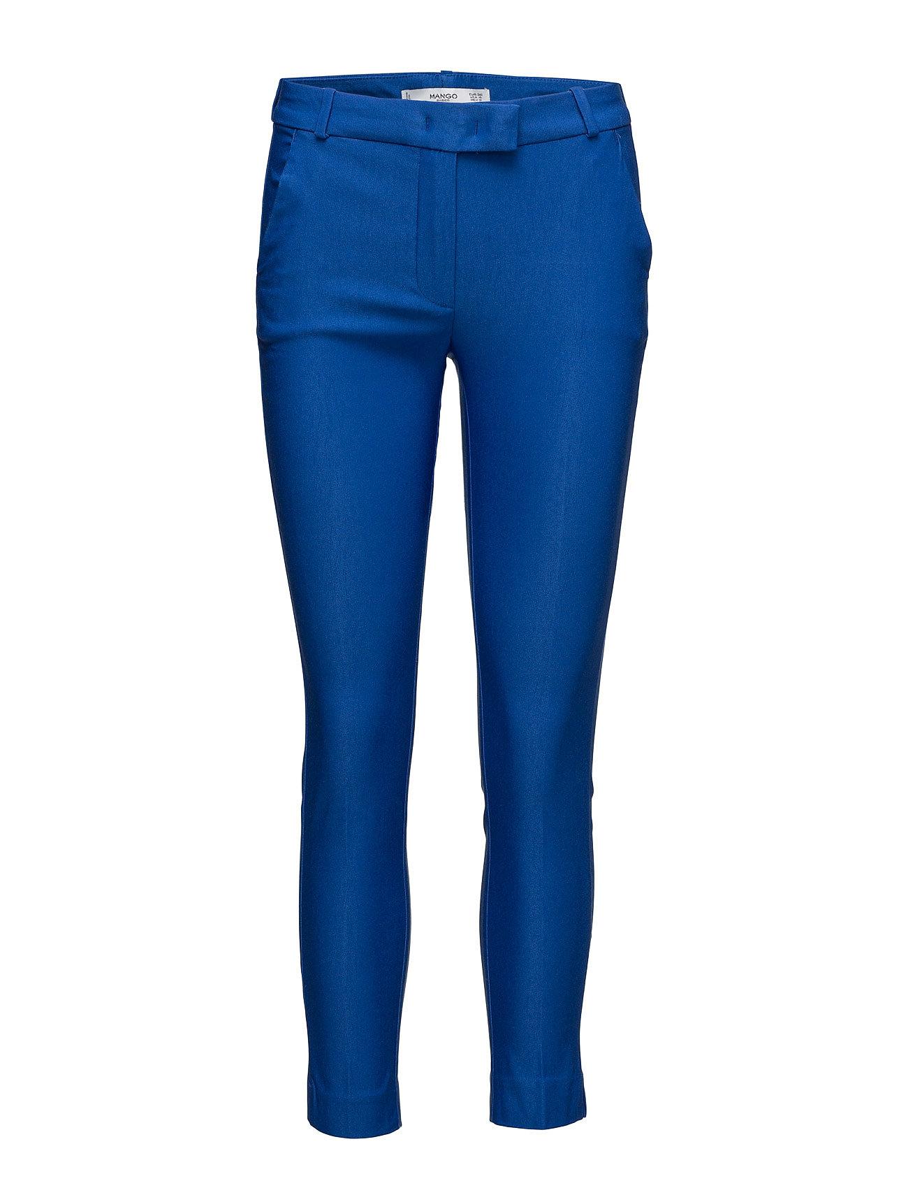 Crop Slim-Fit Trousers Mango Skinny til Damer i Medium Blå