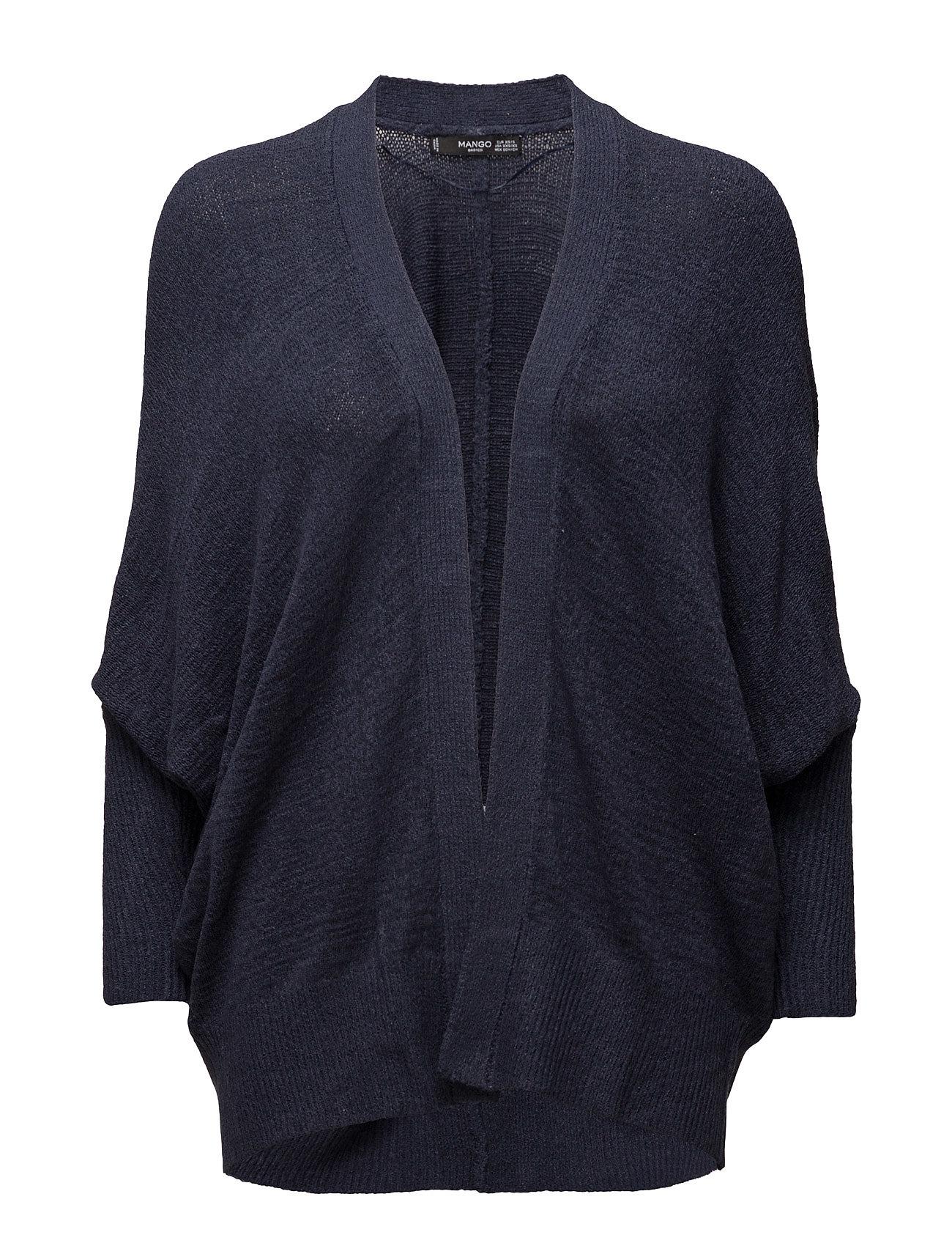 Textured Knit Cardigan Mango Striktøj til Kvinder i Navy blå