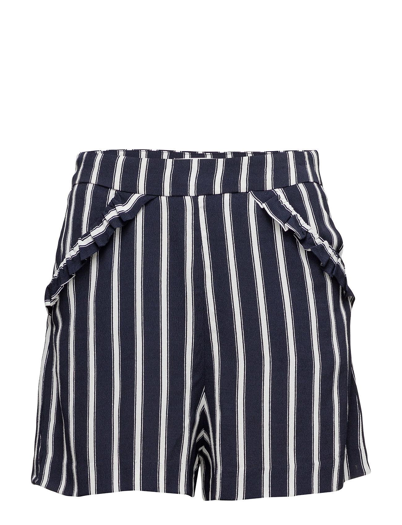 Printed Flowy Shorts Mango  til Damer i Navy blå
