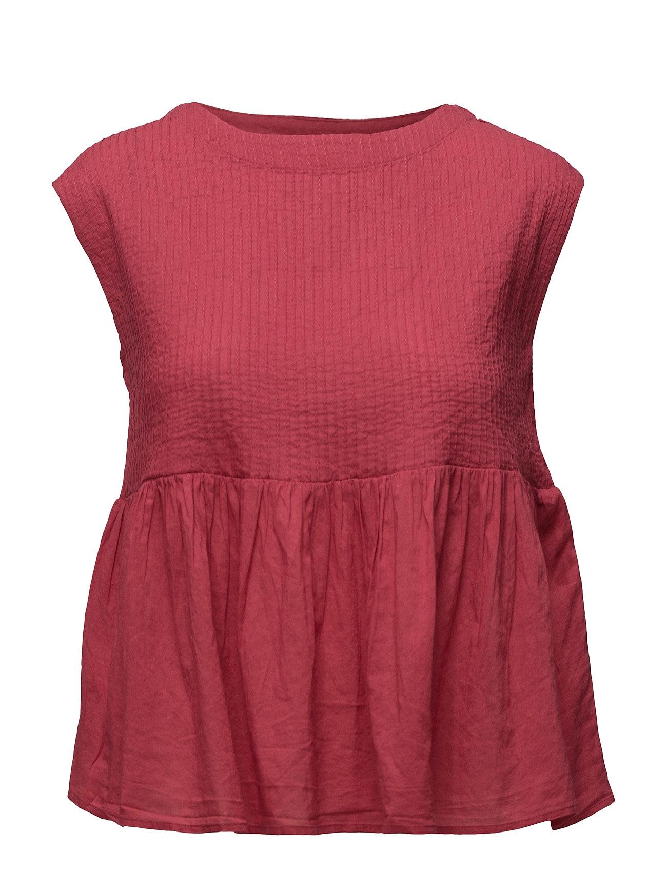 Cotton Top Mango Kortærmede til Damer i Bright Pink